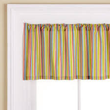Multi Colored Curtains Kids Curtains Kids Green Multi Colored Striped Window Valances