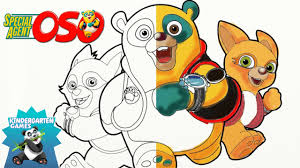 coloring for preschoolers special agent oso coloring page youtube