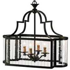 Rectangular Island Light Marion Wrought Iron Rectangle 4 Light Island Lantern Kathy Kuo Home