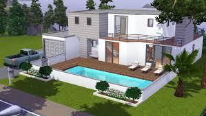 maison 3 chambres emejing maison de luxe moderne sims 3 images bikeparty us avec