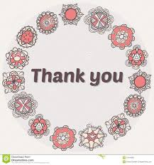 thank you card with ethnic ornament stylish floral background