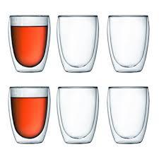 bicchieri bodum bodum 4559 10 12 pavina coffret de 6 verres paroi