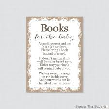 baby shower instead of a card bring a book best 25 lace baby shower ideas on pearl baby shower