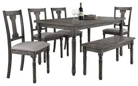 demi 6 piece rustic dinette set traditional dining sets by