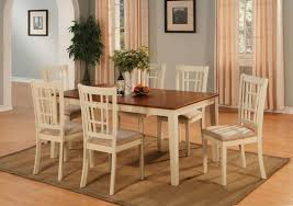 Modern White Dining Room Kitchen Table Beautiful Solid Wood Dining Set Compact Dining