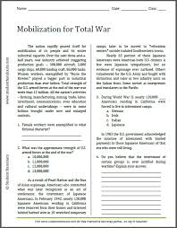 mobilization for total war reading with questions
