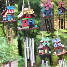 4 copper wind chime wooden hanging wind chime garden yard