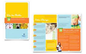 nutrition brochure template weight loss clinic rack card template design