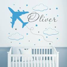Wall Decor Stickers For Nursery Removable Eco Friendly Vinyl Decal Custom Name Wall Decals For