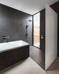 minimalist bathroom design layout with black tiles theme offer