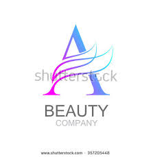 letter a logo design template with beauty industry and fashion