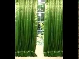 Sari Curtain Indian Organza Silk Sari Curtains Youtube