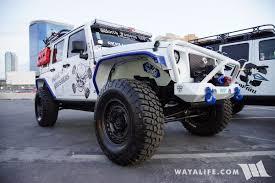 white jeeps 2017 sema skull krushers white jeep jk wrangler unlimited