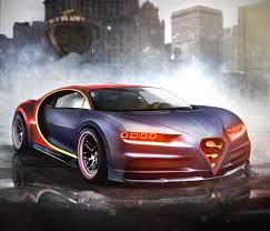 gold bugatti superman u0027s bugatti chiron and 8 more marvel dc superhero cars