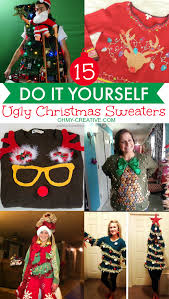 Christmas Sweater Party Ideas - 15 do it yourself ugly christmas sweaters oh my creative