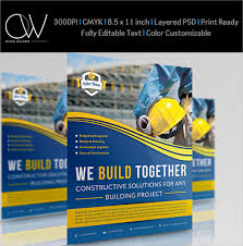 single page brochure templates psd construction flyer templates free yourweek 8645b4eca25e