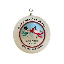 ornaments engagement ornament we re engaged