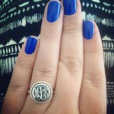 Monogrammed Silver Ring Monogrammed Sterling Silver Ring In Nala Personalized Jewelry
