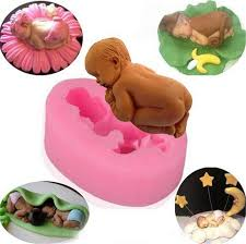 food grade fondant gunpaste icing candy mold cute new born baby