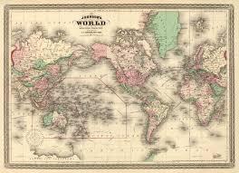 Vintage World Map World Map Poster Kredi Notu