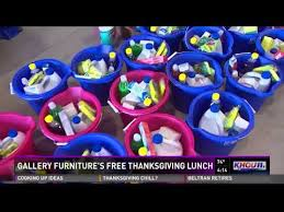 gallery furniture s free thanksgiving lunch