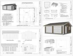 garage plan g528 24 x 22 x 8 garage plan pdf and dwg