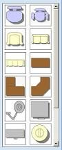 Furniture For Floor Plans Draft A Cad Drawing Using Ms Powerpoint 2007
