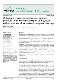 madridge journal of dentistry u0026 oral surgery reducing oversized