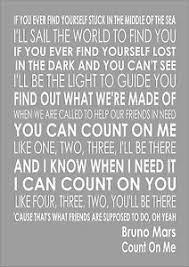 Lyrics To Count On Me Bruno Mars Bruno Mars Count On Me Word Typography Words Song Lyric Lyrics
