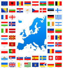 Simple Map Of Europe by Map And Flags Of Europe Collection By Dikobrazik Graphicriver