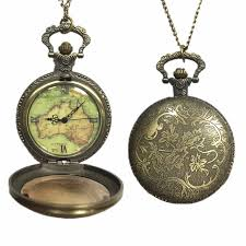 vintage watch chain necklace images Womens mens quartz pocket watch 1 pc vintage watch necklace gift jpg