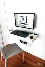 Wall Mount Computer Desk Wall Mounted Computer Desk Thepoultrykeeperclub Floating Wall Desk