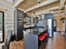 cuisine au bois panache au chalet en bois rond cottages apartments tourist