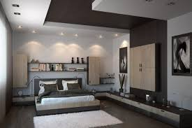eclairage chambre a coucher led faux plafond moderne dans la chambre à coucher et le salon