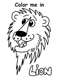children u0027s free color me in lion print out
