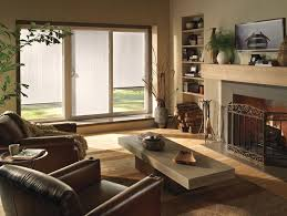 Single Patio Doors With Built In Blinds Window Treatments For Sliding Glass Doors Ideas U0026 Tips
