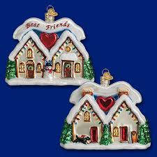 20067 friendship house 4 old world christmas ornaments
