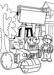 coloring page of spud the mischievous scarecrow bob the builder
