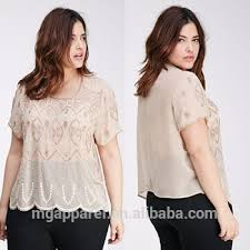 trendy blouses trendy sleeve blouse bead embroidered chiffon blouse