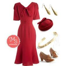 retro dresses vintage inspired clothing red dress shoppe style