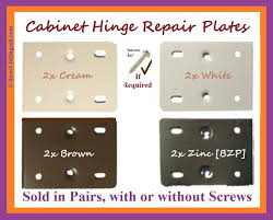 hinge repair plates kitchen bed bath door white cream brown