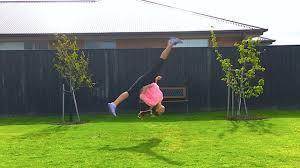 Backyard Gymnastics Equipment Trying New Gymnastics Connnections Youtube