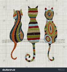 embroidery cats zentangle style vector embroidery stock vector vector embroidery home decor ornament for textile fashion
