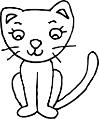 kitten clipart black and white clipartxtras