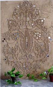 Home Textile Design Studio India Mud Panel Textile Design I Love To Execute These Traditional