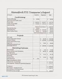 treasurer s report agm template treasurer report template new 100 pto bud template free resume