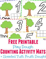 printable playdough recipes tutti frutti scented play dough free printable playdough mats