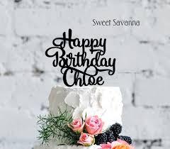 custom happy birthday cake topper u003d chloe u2014 sweet savanna cookie