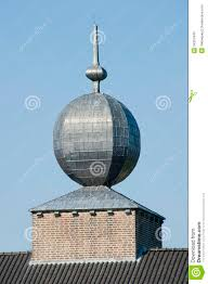 decorative spherical tin roof ornament stock image image 34267449