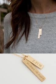 personalized bar necklace gold personalized coordinates necklace by leila jewelry great gifts